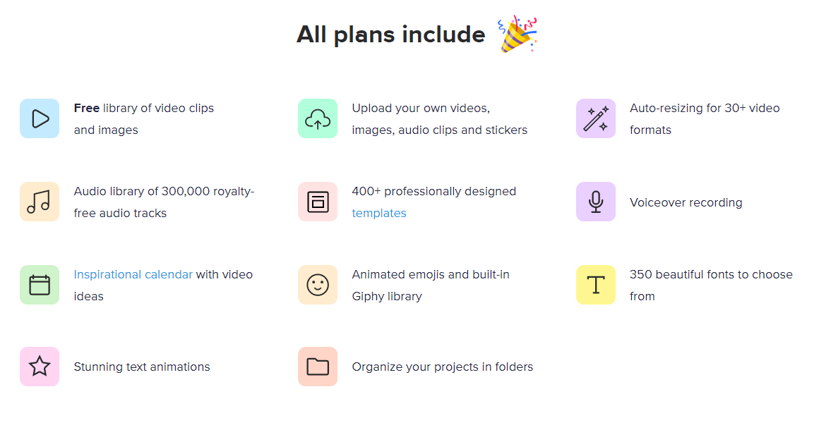 All Wave.Video Plans Include These 11 Features