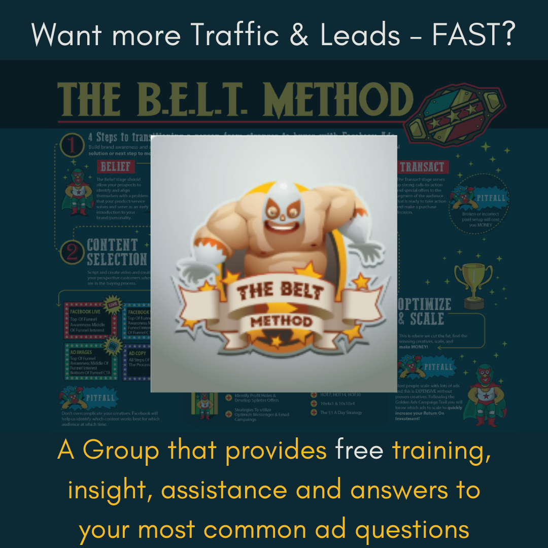 Curt Maly's FREE BELT Trainings Group